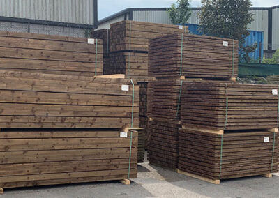 Treated Fence Boards (green & brown)